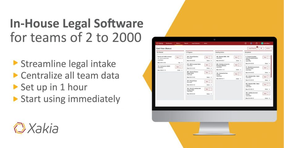 Xakia in-house legal matter management