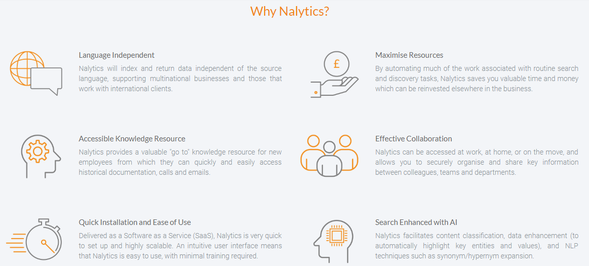 Nalytics legalAI intelligent search platform GDPR tool