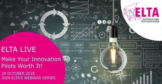 Legal innovation pilot ELTA live webinar
