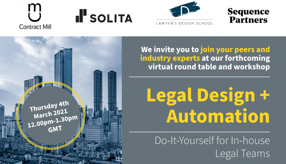Legal Design and Document Automation Webinar with Contract Mill