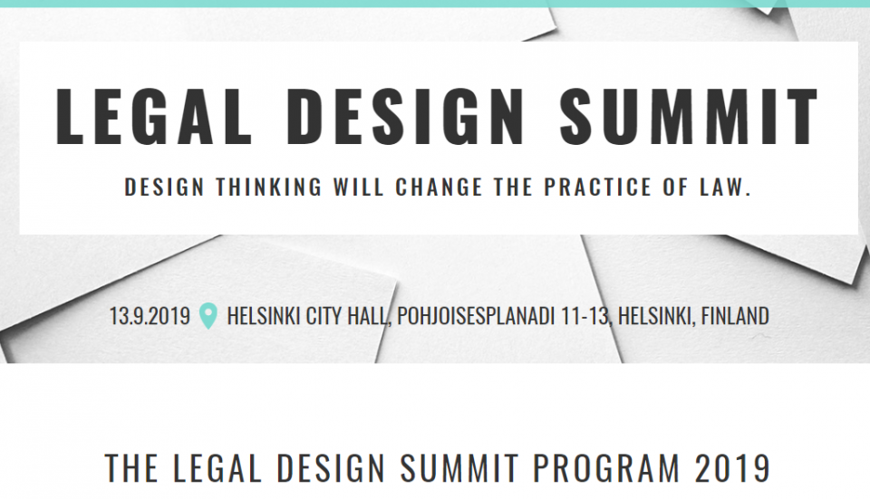 legal design summit helsinki 2019