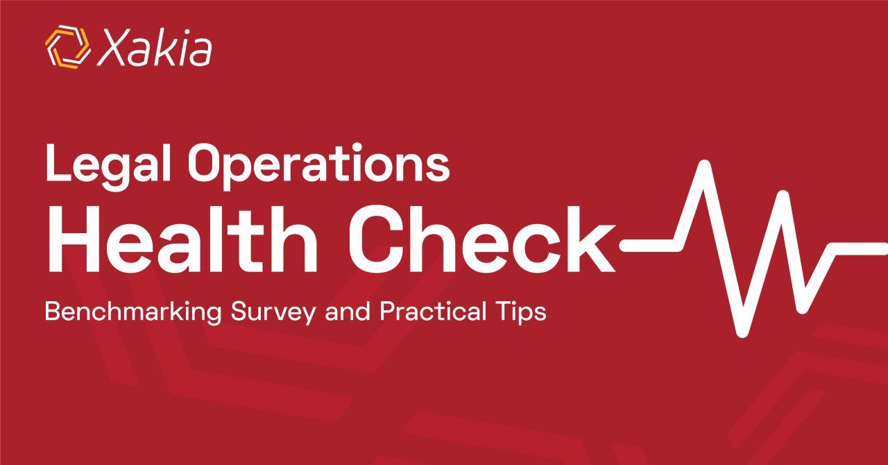 Legal Operations Health Check Webinar eBook