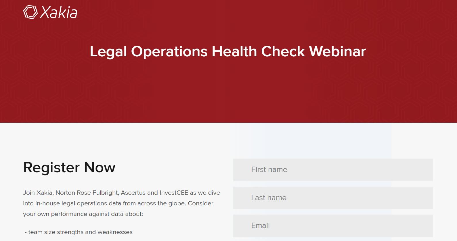 Legal Operations Webinar eBook