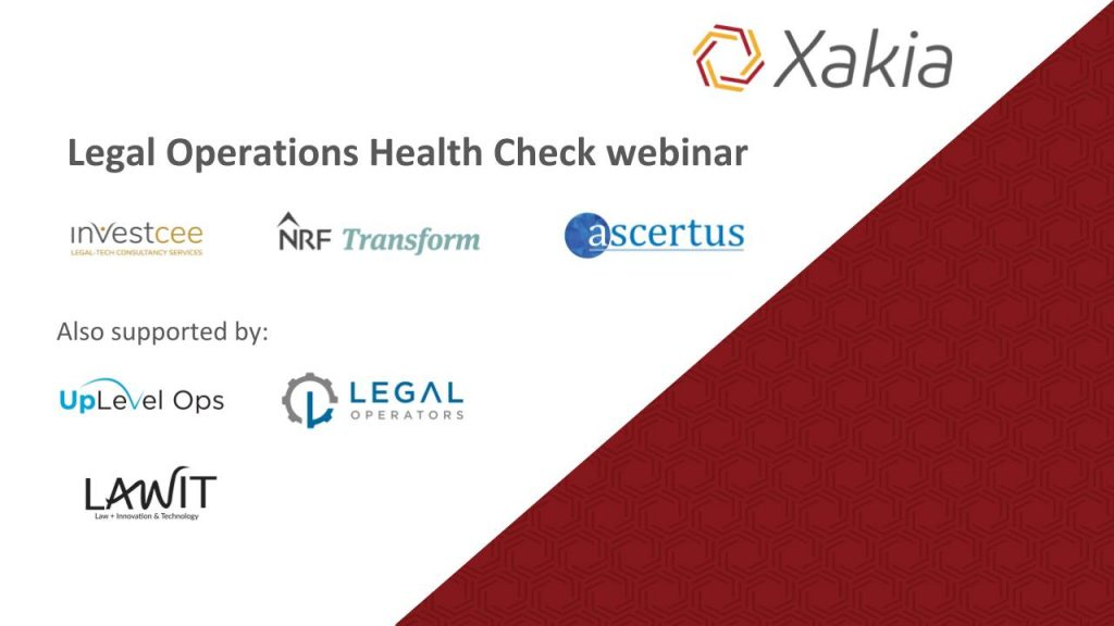 Xakia Legal Operations Health Check_Webinar cover